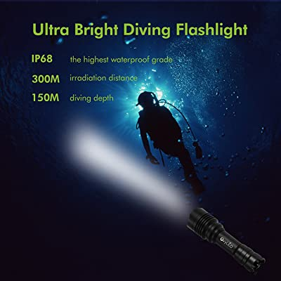 OxyLED Diving LED Flashlight DF10, 1050