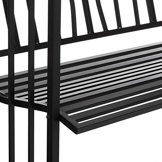 Amazon.com: Oakland Living Royal Arbour con banco, Negro ...