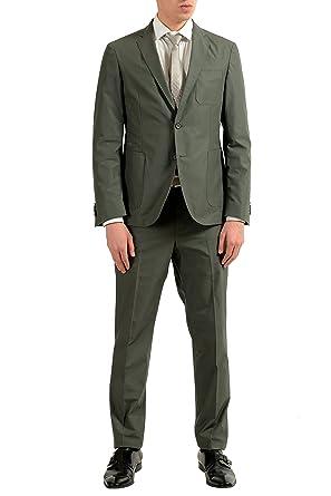 Amazon.com: hugo boss nastven/barns-t hombre verde botón de ...