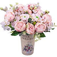 Artificial Peony Silk Flowers Fake Faux Peony Bouquets Flowers for Wedding Party Bridal Home Decoration Table…
