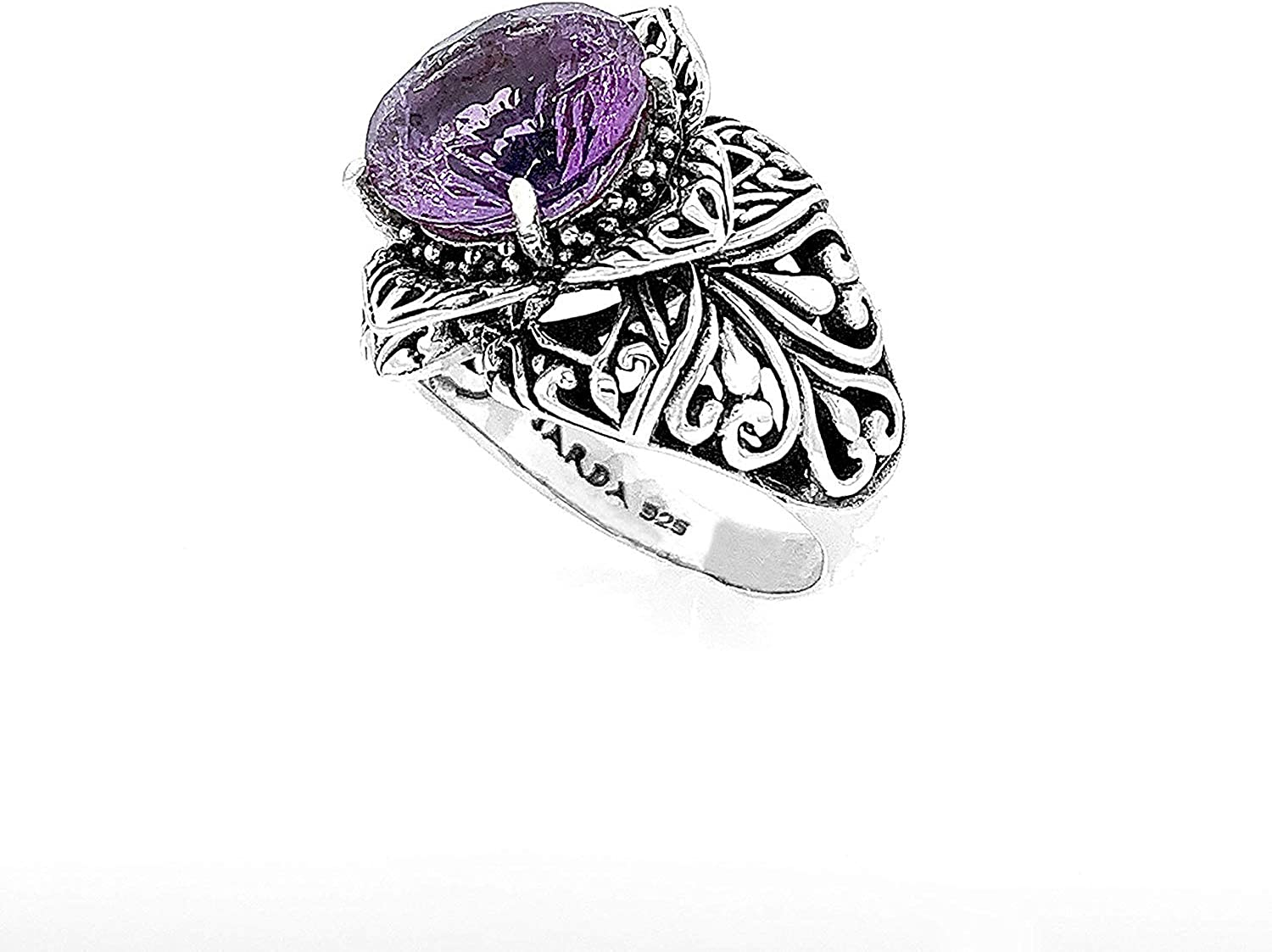 Fancy Ring Amazing Amethyst gemstone Silver Ring Cut Stone new design silver Ring 925 Sterling silver Ring beautiful Ring Gift For Love Ring