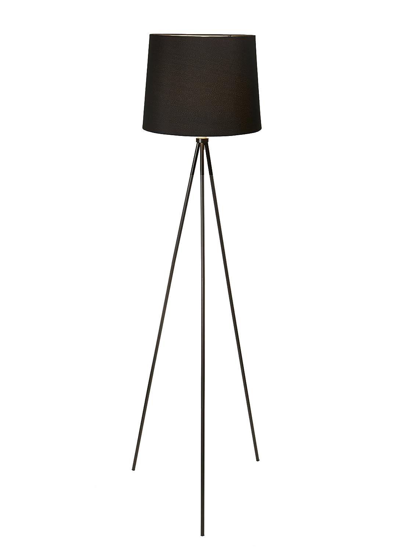 Lámpara de mesa con trípode, diseño contemporáneo, color Negro