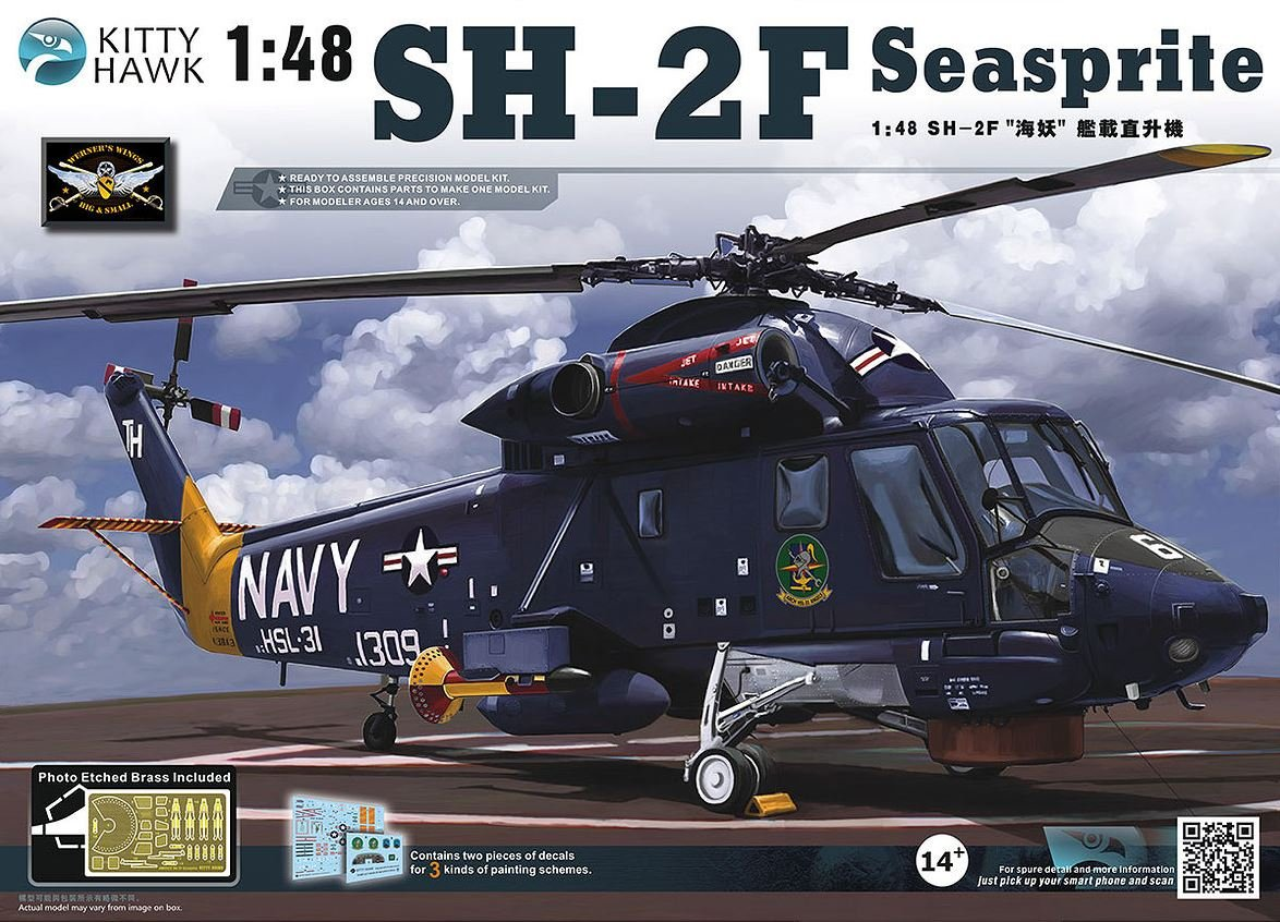 amazon com kth80122 1 48 kitty hawk sh 2f seasprite helicopter