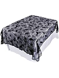 OurWarm Halloween Tablecloth Black Lace Fabric.