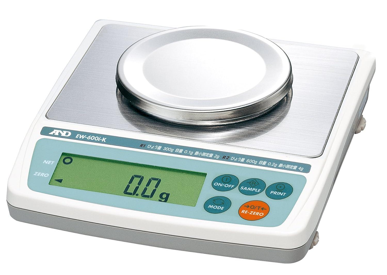 A&D 検定付き トリプルレンジパーソナル天びん EW-600i-K ひょう量:600g 最小表示:0.1~0.2g(使用範囲:2~600g) 皿寸法:φ110mm 検定付:1地域 使用地域区分:1区 B071GMV787