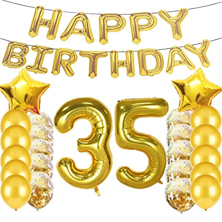Globos de látex para fiesta de cumpleaños número 35 de color ...