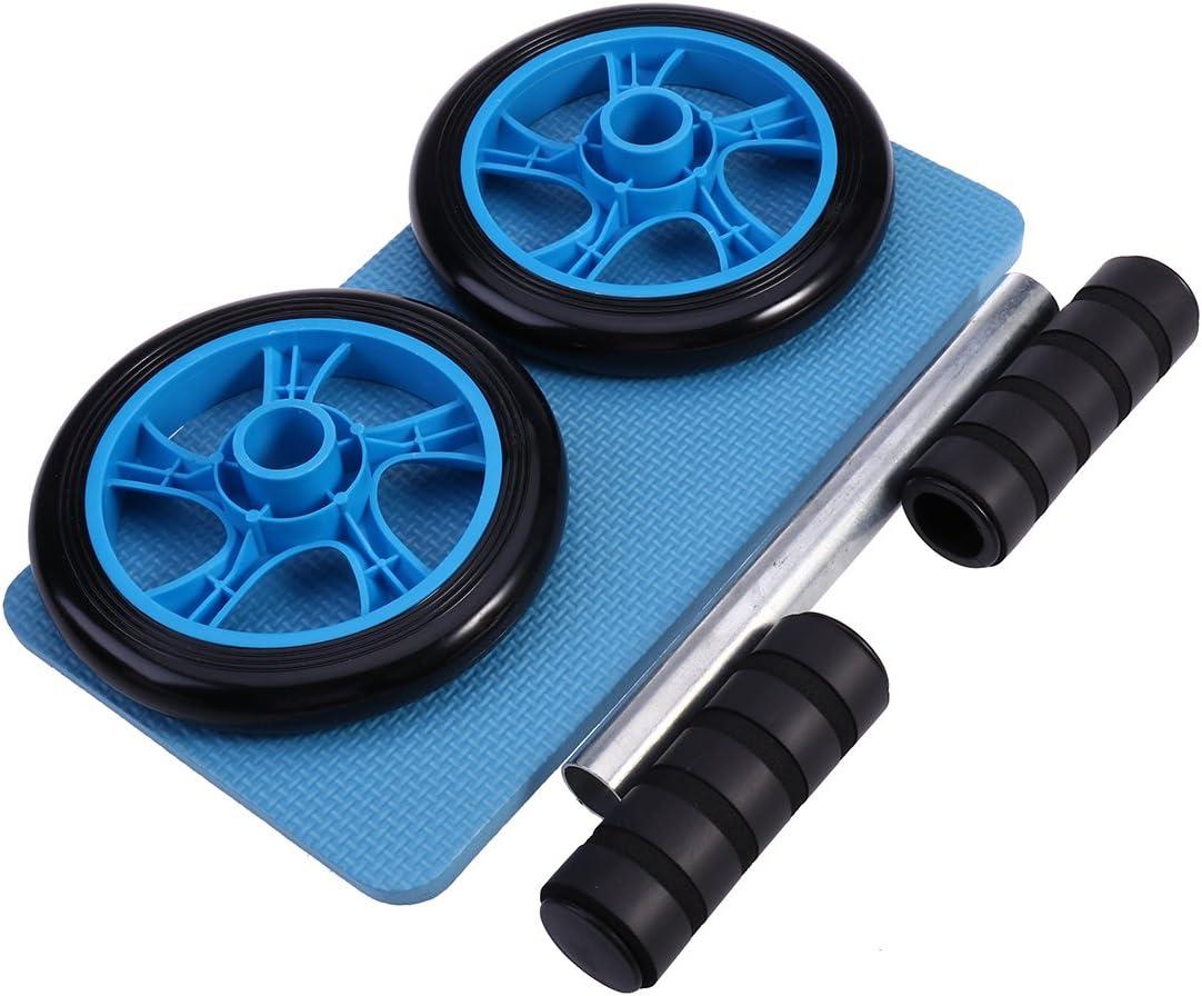 WINOMO AB Rad Roller Kit mit Knie Matte Dual Wheels Mute Bauch Trainer /Übung Fitness Equipment
