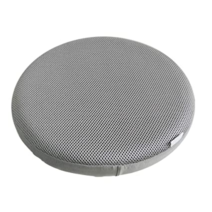 F Fityle 12inch 13inch 14inch 16inch Bar Stool Cover Round Chair Seat Cover Sleeve Elastic Fabric Gray 35cm