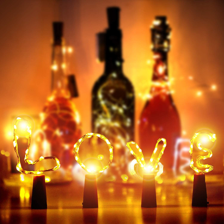 12 Pcs Luz de Botella, 2m 20LEDs Luces de Botellas Pilas ...