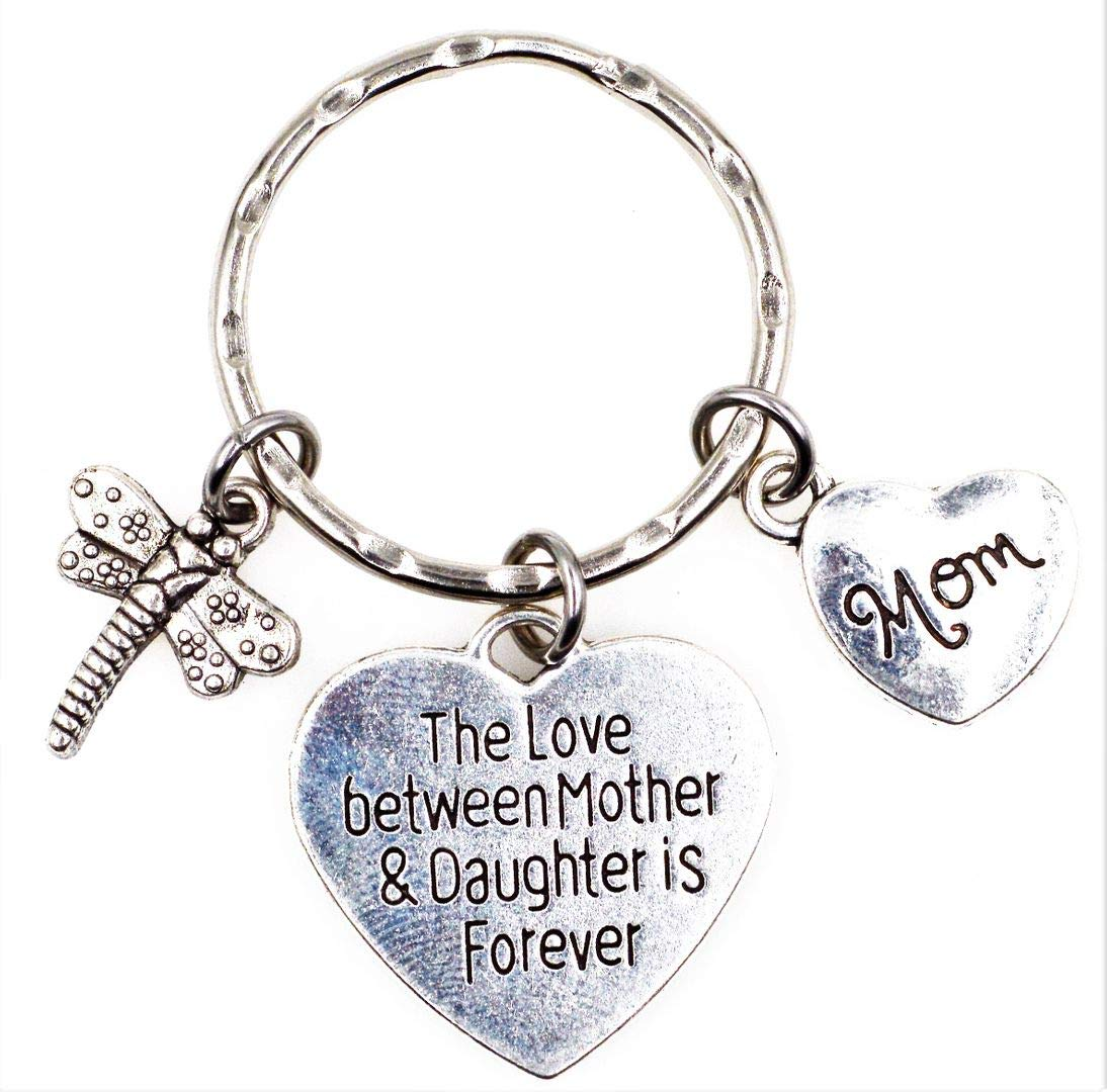 The Love Between Mother and Daughter is Forever Dragonfly Daughter Charm Key Ring Lobster Claw Dog Leash Swivel Hook Clasp Interchangeable Detachable Keychain H5S Its All About...You