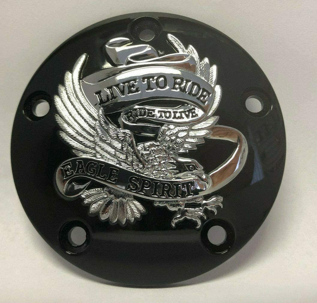 Tuning/_Store Black with Chrome Live to Ride Ignition Timing Timer Cover for Harley Twin Cam The Best Accessories for Tuning and Upgrading Your Iron Horse
