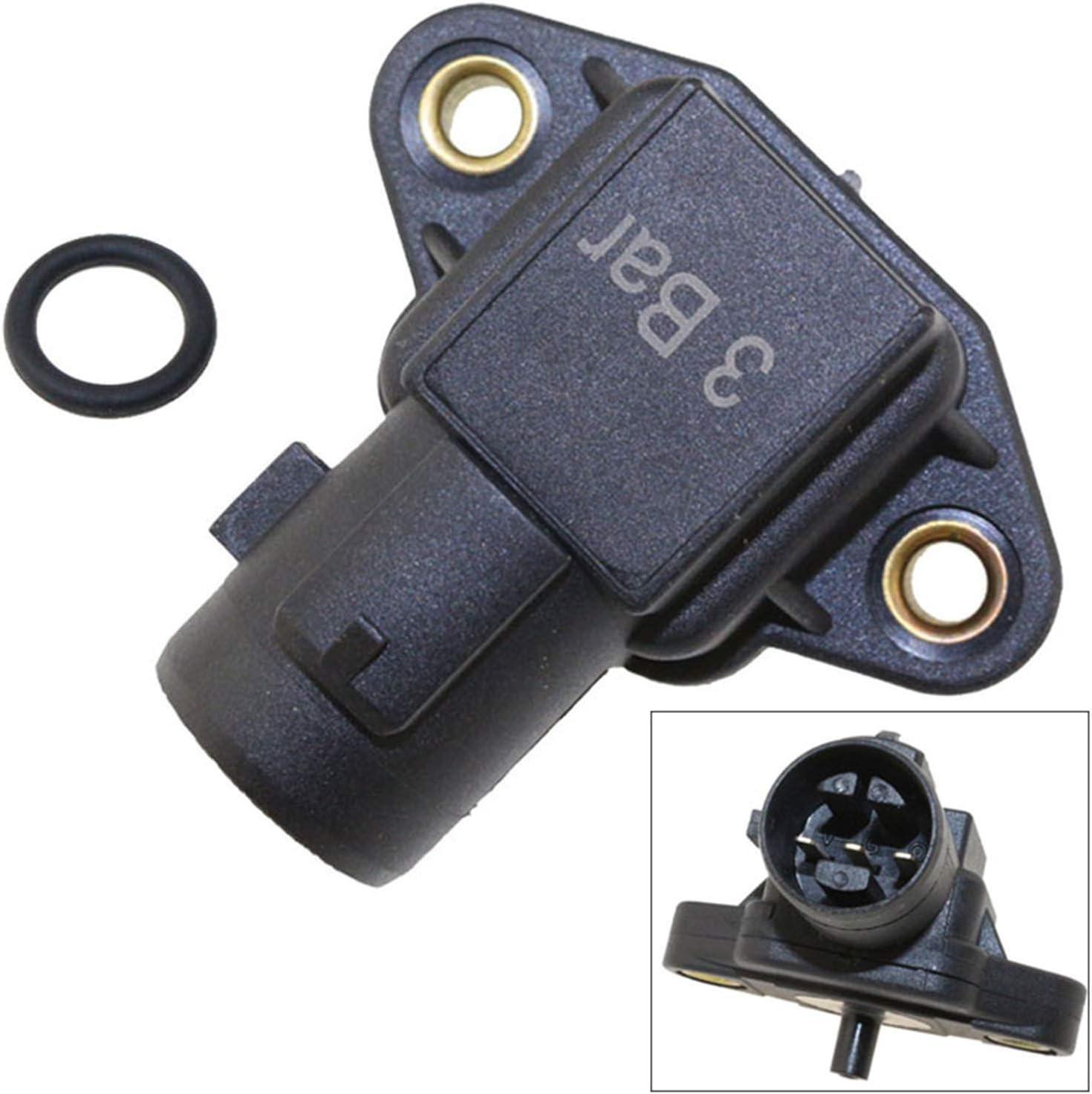 MAP Acura CL TL Integra Sensor 079800-4250 Replacement for Honda Civic Del Sol Accord CR-V HR-V Crx Odyssey Prelude S2000,Isuzu Oasis CENTAURUS Manifold Pressure # 37830-PAA-S00 37830-P05-A01
