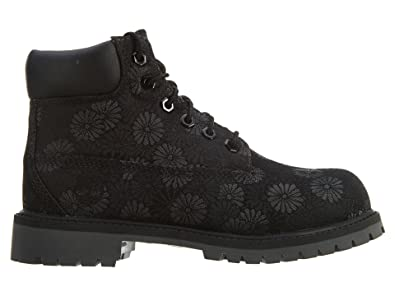 058b42363e2 Timberland Little Kids 6 Inch Classic Floral Boots 1.5 Black Floral Jacquard