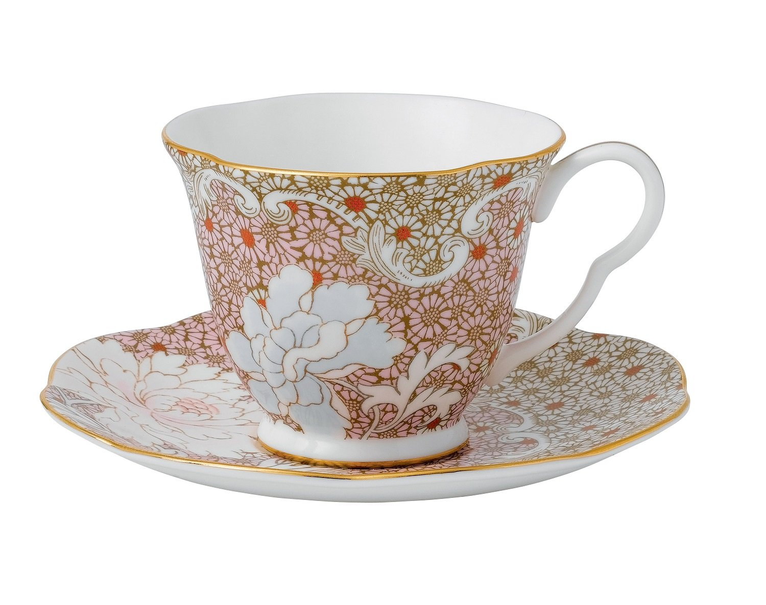 Wedgwood Daisy Tea Story Teacup and Saucer Set, Pink 40000781