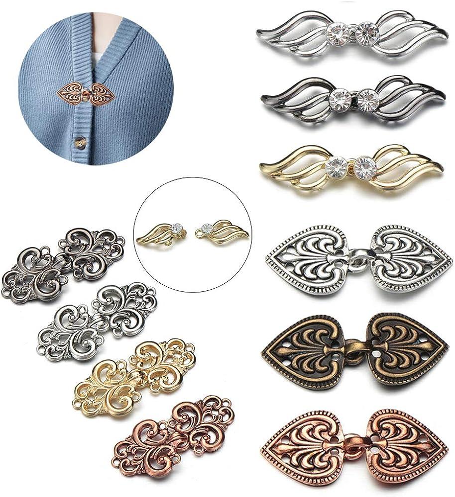 Dragonface Femmes Vintage Cardigan Clip Hiver Trendy Pull Chemisier Pin Casual Femme /écharpe Broche Ladies Charm Accessoires Cadeaux 1pcs