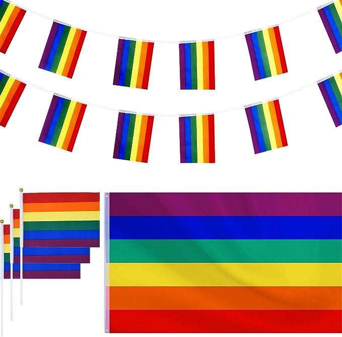 150 por 90 cm de Bandera de Lesbiana Gay de Arco Iris Colgante de ...