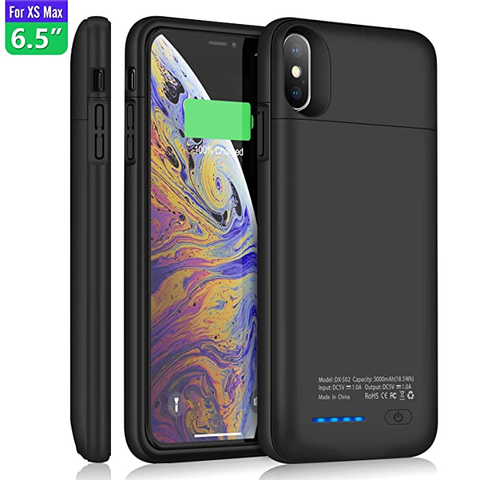 brand new be426 bb746 YISHDA Battery Case for iPhone Xs Max 5000mAh Portable Charging Case  Compatible with iPhone Xs Max 6.5inch Magnetic Rechargeable Extended Backup  ...