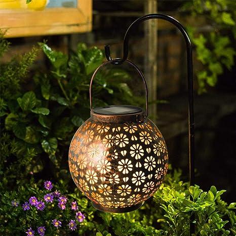 Osaloe Linterna Solar Exterior, Lámpara de Jardín de impermeable IP65, Iluminación Decorativa Solar LED, Luces Solares Inalámbrico para Fiesta, Parque, Boda, Senderos, Patio, Navidad: Amazon.es: Iluminación