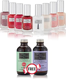 product image for Nail Polish Lady Desire - Natural Nail Polish Base Coat Set – Natural Nail Polish Remover - NonToxic Nail Art | Vegan and Cruelty-Free Nail Paint (Pack of 10)