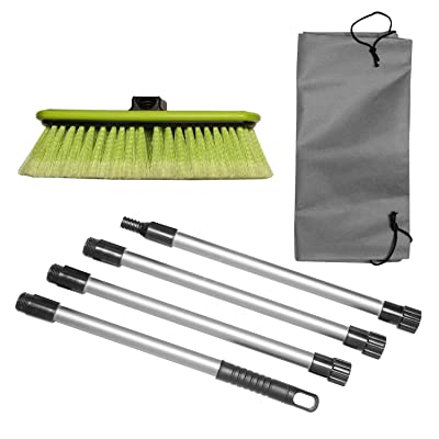 """Great Working Tools Car Wash Brush 10\"""" Dip Brush with Soft Bristles, Side Protector, Adjustable Extra Long 65\"""" Handle & Carry Bag for Auto Home RV SUV Boat Truck Cleaning: Home & Kitchen [5Bkhe2004770]"""