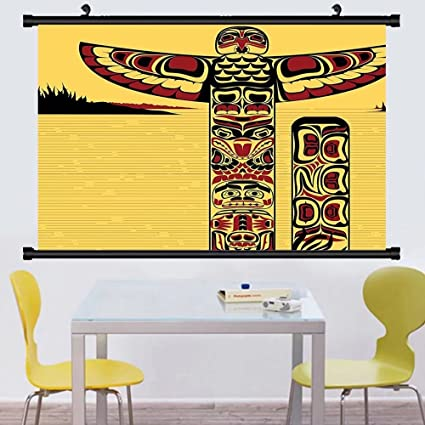 Amazon.com: Gzhihine Wall Scroll Native American Decor Collection ...