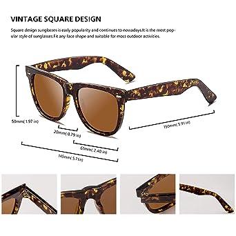 Amazon.com: Gafas de sol unisex polarizadas clásicas para ...
