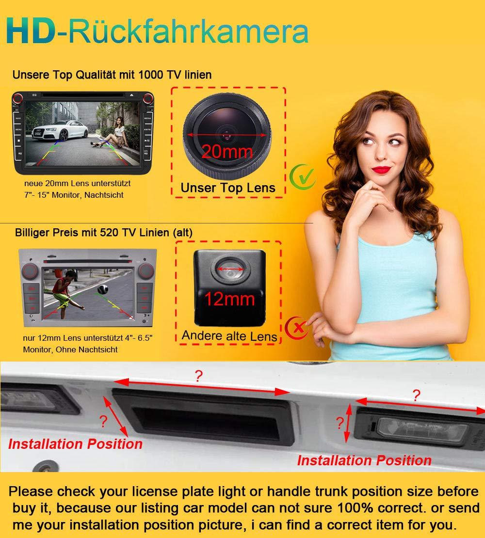 Karakus Auto Nummernschild R/ückfahrkamera Nachtsicht Kamera Einparkhilfe R/ückfahrsystem f/ür Honda CRV New FIT Odyssey Insight Vezel HRV FR-V MR-V Edix LaGreat Jazz
