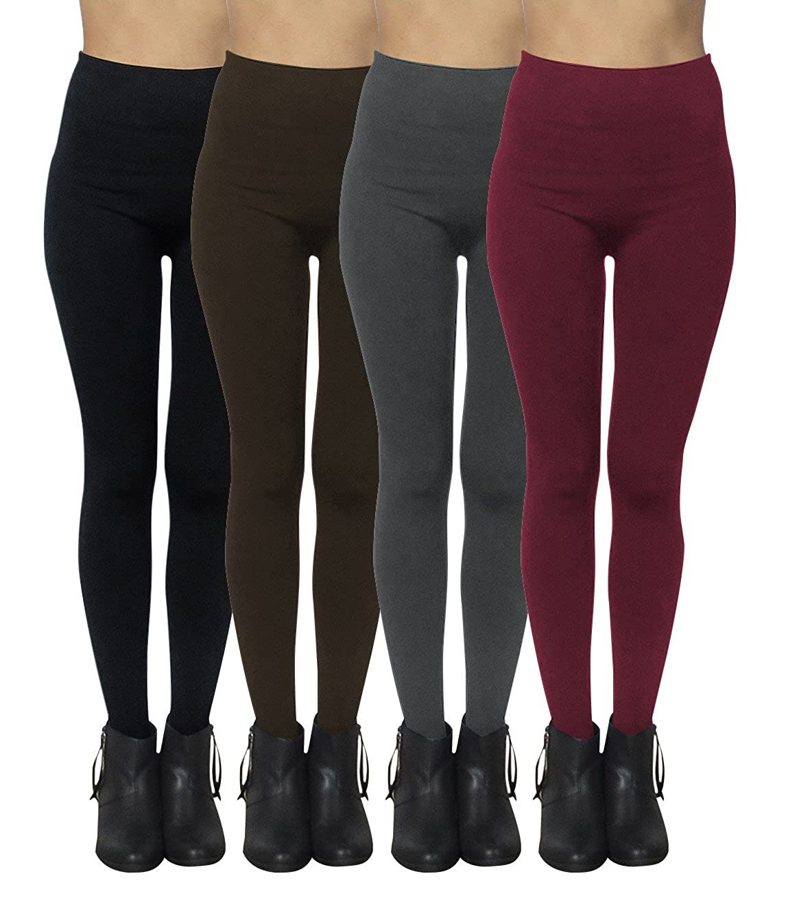 """8ae125461eec2 Machine Wash / Tumble Dry / No Bleach Comfortable seamless fleece lined  leggings for women. One size fits most, up to size XL or 38"""" waist line"""