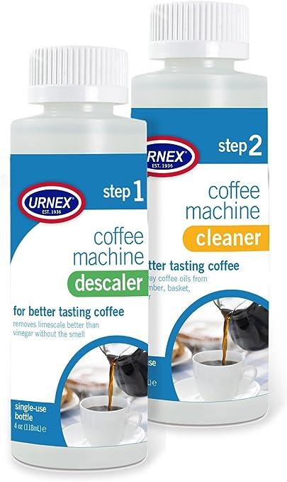 Urnex - Kit de limpieza y descalcificador para cafeteras (2 ...