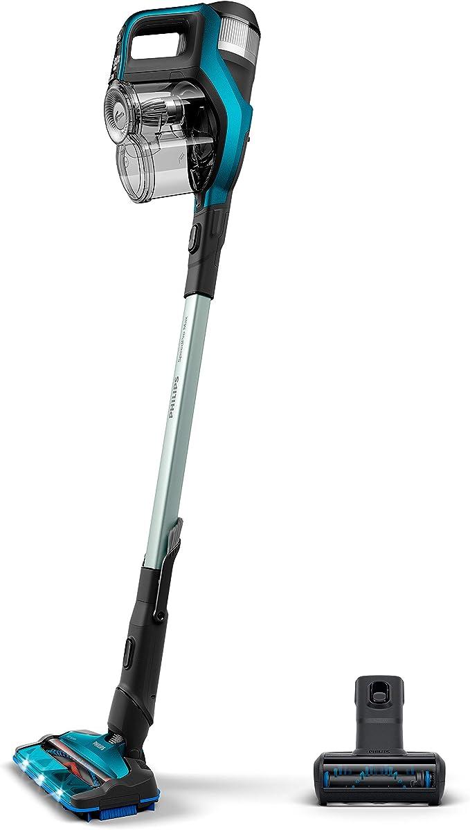 Philips FC6904/01 aspiradora de pie y escoba eléctrica Sin bolsa Color aguamarina 0,6 L - Aspiradora escoba (Sin bolsa, Color aguamarina, 0,6 L, 0,28 L, 1000 L/s, Ciclónico): Amazon.es: Hogar