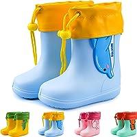 Botas de Agua Unisex para niños Botas de Lluvia de Dibujos Animados Zapatos Antideslizantes de Goma EVA Botas de Lluvia…