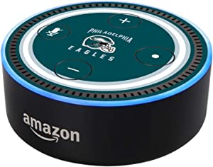 Head Case Designs Officially Licensed NFL Team Colour Helmet Philadelphia Eagles Glossy Vinyl Sticker Skin Decal Cover Compatible with Amazon Echo Dot (2nd Gen)