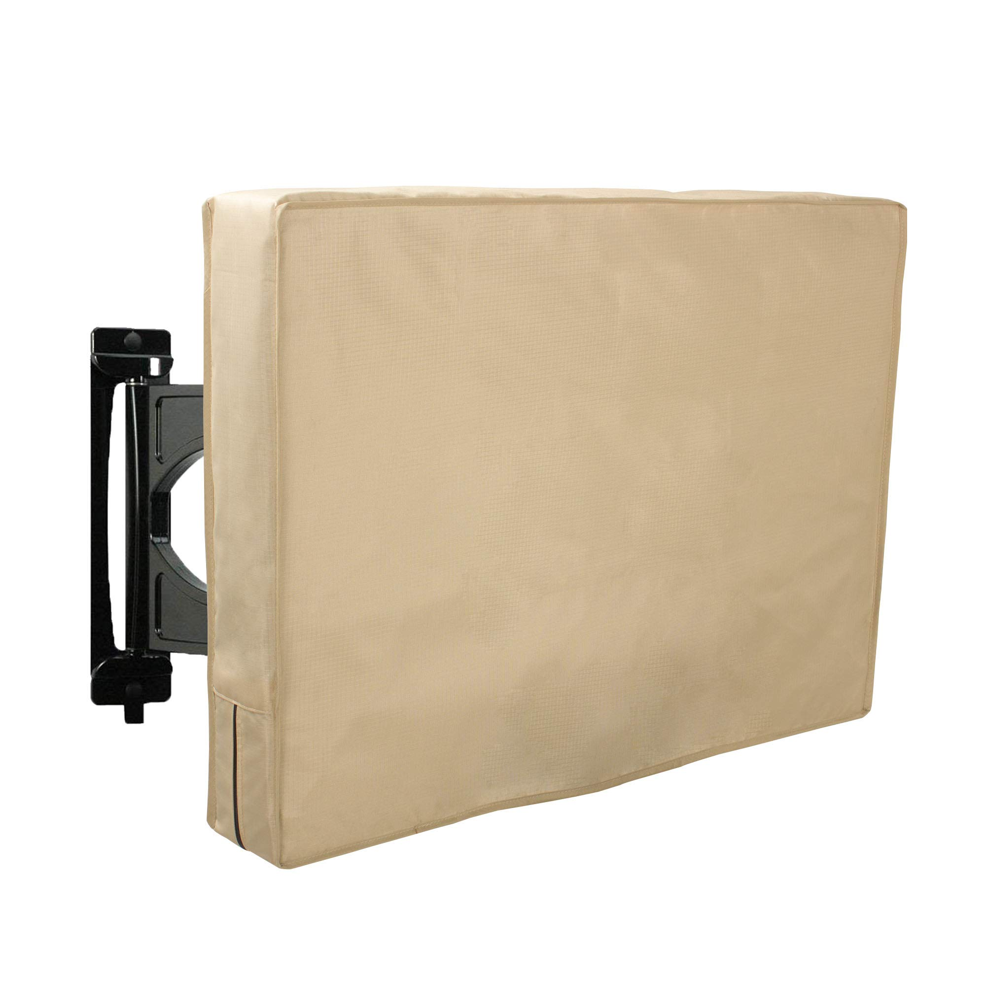 Hentex Outdoor TV Cover 55'' Universal Weatherproof,Fits Most TV Mounts and Stands, Khaki(5103) by Hentex