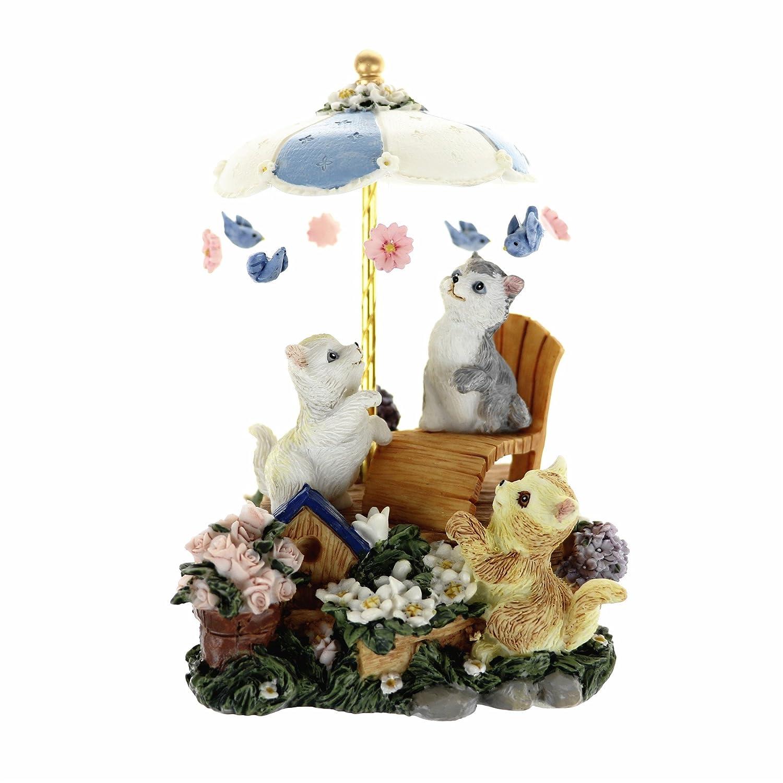 宅配 sindbin Cannon 18-note Wind Up音楽ボックス、愛らしい猫デザイン、Plays the Wind Melody