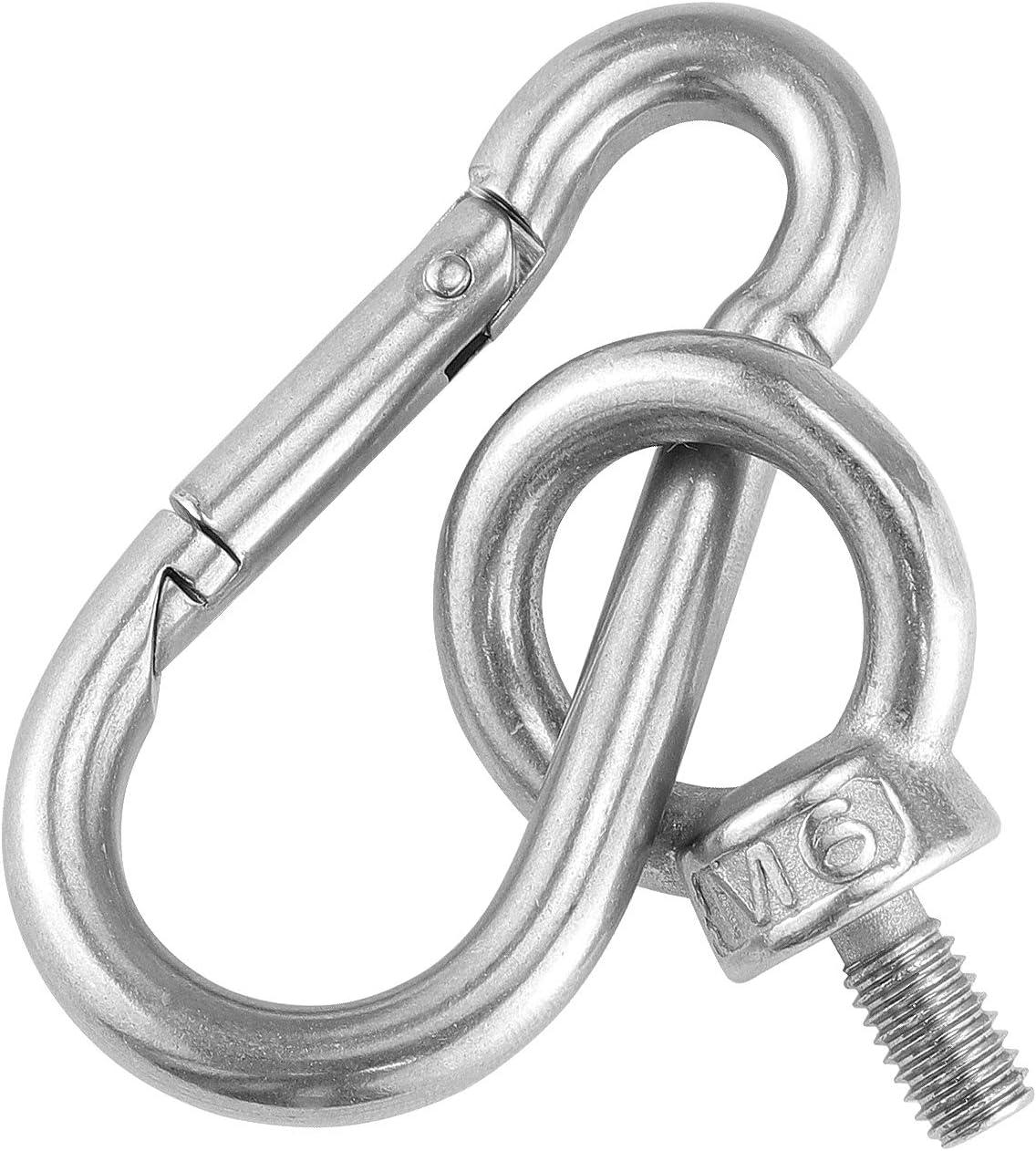 4 ojales para sujetar tu cuerda el/ástica o cuerdas de hasta 0,5 cm Hysagtek no utilizar para anclajes sin pista