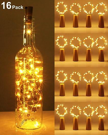 Kolpop luz Corcho, luz de Botella, luces led para Botellas de Vino ...