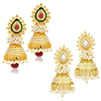 Sukkhi Jhumki Earrings for Women (Golden) (315CB1600)