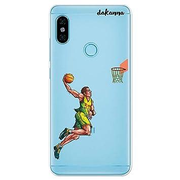 dakanna Funda para Xiaomi Redmi Note 5 Pro   Jugador de Baloncesto ...
