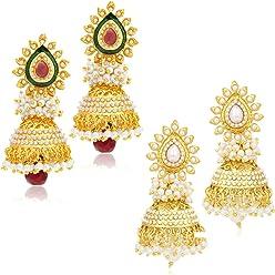 Sukkhi Jhumki Earrings for Women (Golden) (315CB1600)