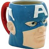 ICUP Marvel - Captain America  3-D Molded Head Ceramic Mug In Gift Box