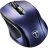 VicTsing Mouse / Ratón Inalámbrico Óptico, 2.4G Móvil, con Receptor Nano, 6 Buttons, 2400DPI, 5 Niveles de DPI Ajustable – color azul
