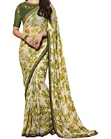 Tagline Women's Clothing Saree Collection in Multi-Colored Georgette For Women Party Wear,Wedding With Blouse Piece A17 Sarees