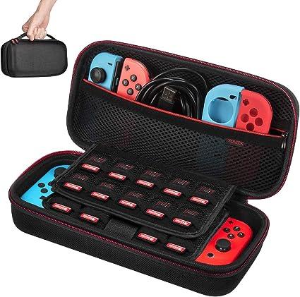 Funda para Nintendo Switch - Younik Versión Mejorada Viaje rígida Case con más Espacio de Almacenamiento para 19 Juegos, Oficial Adaptador de AC y Otros Accesorios Nintendo Switch: Amazon.es: Electrónica