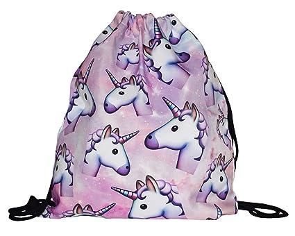 be Unicorn | Cooler Unicornio Turn Bolsa | Mochila con motivos Simpáticos Emoji dibujos animados |