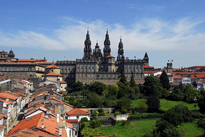 Amazon.com: Wallmonkeys Cathedral Santiago Compostela Wall ...