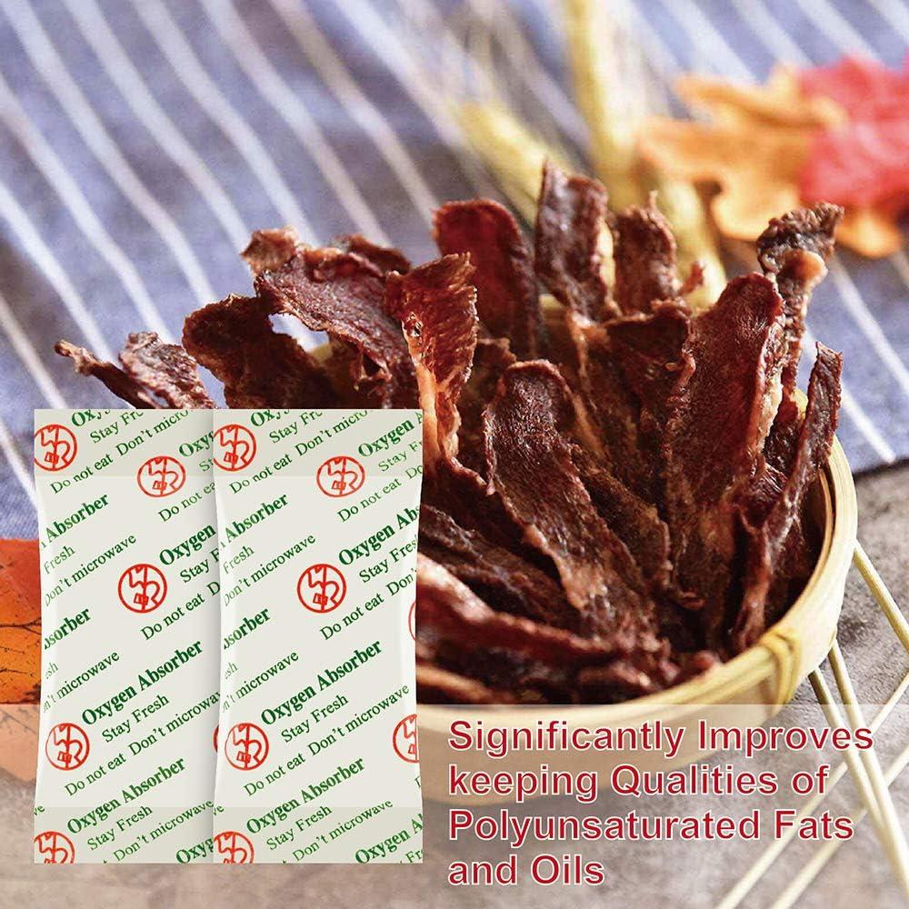 Approuv/é par LA FDA Anti Huile Absorbeurs Doxyg/ène Paquets pour Le Stockage des Aliment 300-Pack O2frepak 50CC