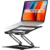 Novo suporte para notebook Urmust para notebook, suporte ajustável ergonômico para Ultrabook portátil com mouse pad compatíve