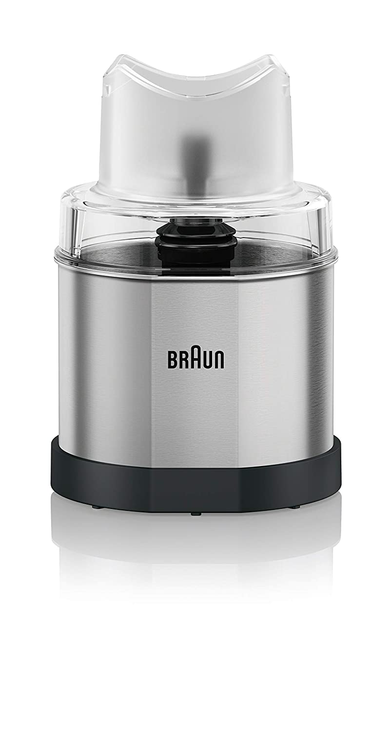 Braun MQ60 MultiQuick Hand Blender Attachment Coffee and Spice Grinder 1.5-Cup Stainless Steel