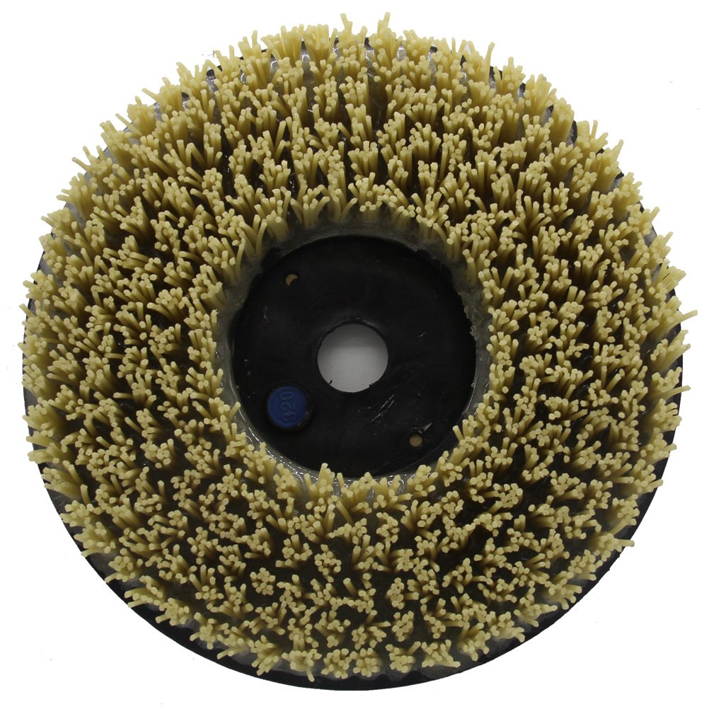 Easy Light 10 Inch Strong Diamond Abrasive Round Brush for Stone Grit 1000