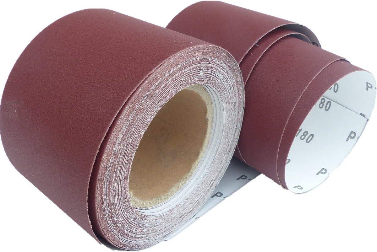 Rouleau de papier abrasif 25 m x 93 mm x 25 m P100